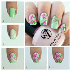 nail-art-con-verde-paso-a-paso