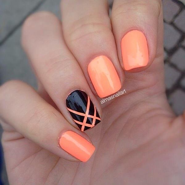 nail-art-en-color-naranja