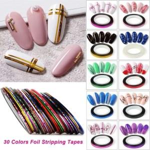 cinta de tiras para diseños uñas