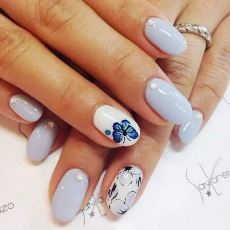 mariposa diseños uñas 2021