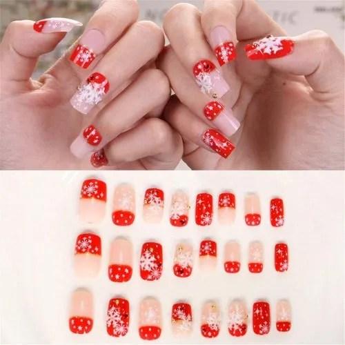 Diseños de uñas para fiesta de navidad