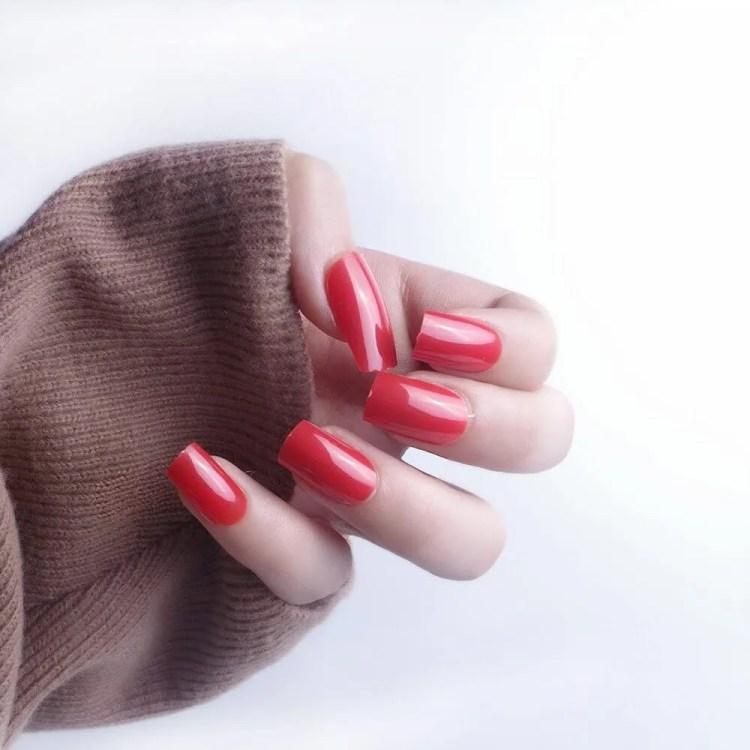 Uñas de Navideñas de Navidad 2021 Color Rojo