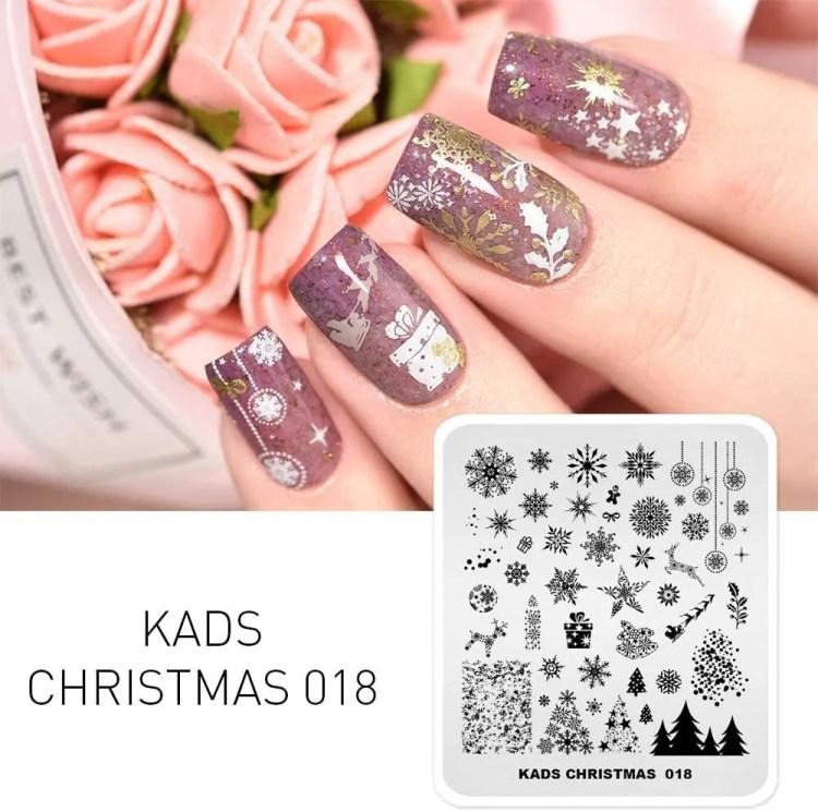 Uñas de Navideñas de Navidad 2021 con flores