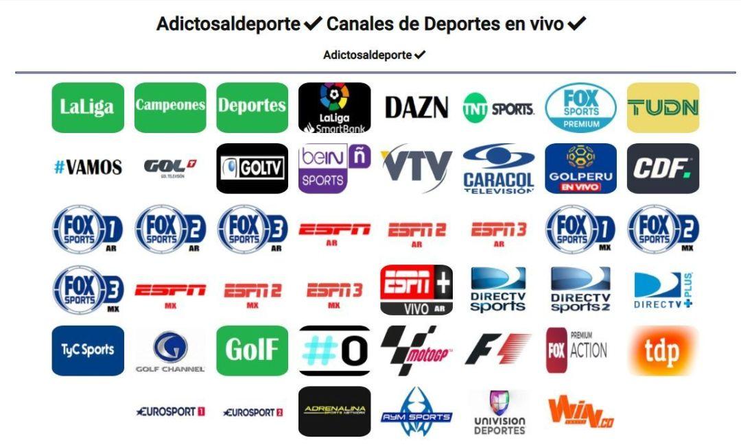 Adictos al Deporte - Diseño Webs - Ver Deportes (GRATIS)