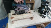 【DIY入門】簡単DIY!1×4の端材で丸ノコ置きを作る