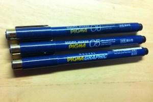 PIGMAペン種類