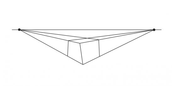 垂直な線のねじれ