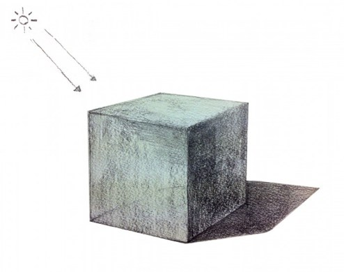 立方体を描き込んでいく