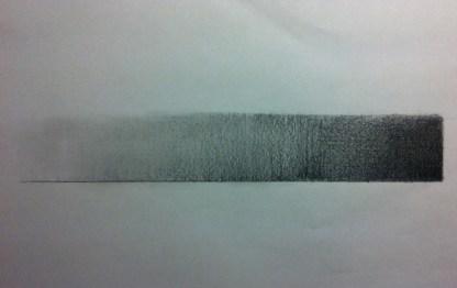 鉛筆のグラデーション
