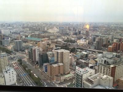 ANAクラウンプラザホテルグランコート名古屋 客室 アーバンダブル 窓からの景色