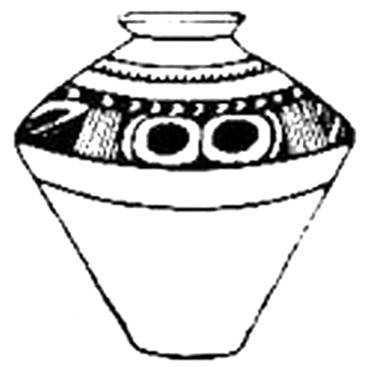 Трипольская керамика с изображением грудей.