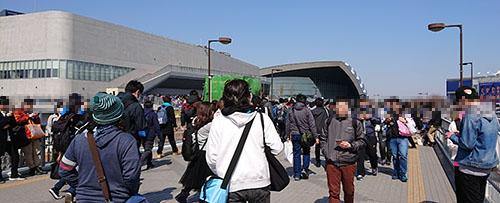 ユニット対抗戦 東京 歩道橋登った瞬間の景色