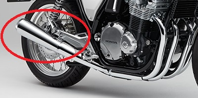 バイクのマフラー キズが付く場所