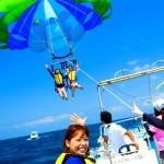 宮古島【パラセーリング】エメラルドグリーンの海を大空から眺めよう!!