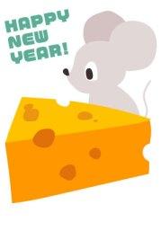 年賀状,無料,ダウンロード..ねずみ,ネズミ.鼠