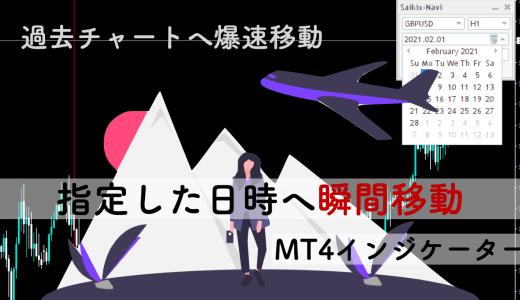 指定した日時へ瞬間移動できるMT4無料インジケーター
