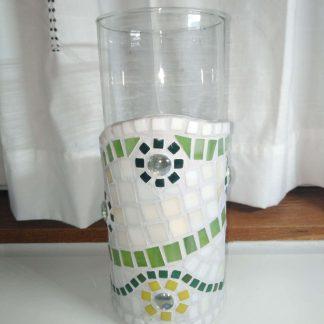 Jarrón mosaico verde