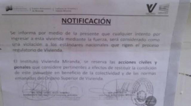 Alertan que gobierno inició «Plan Ubica tu casa» en sector Alto Verde de Los Teques
