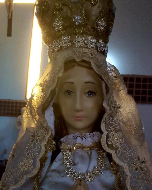 VIDEO | Captan el momento cuando imagen de la Virgen del Valle llora en Carrizal
