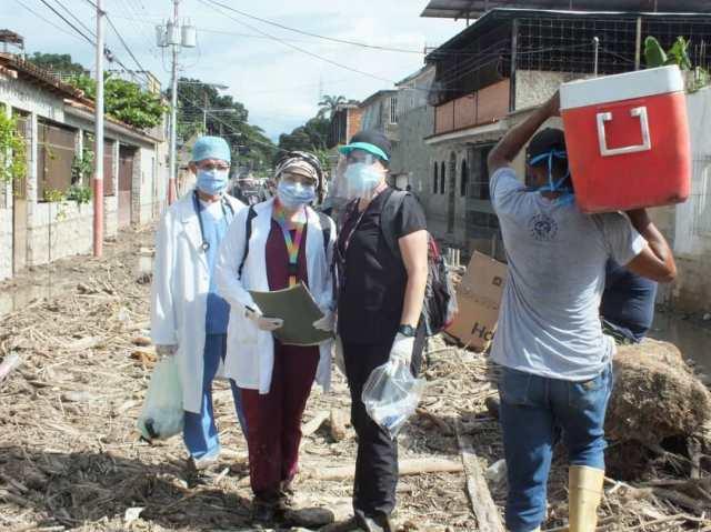 Solidaridad sanantoñera se activa para ayudar a damnificados aragueños tras crecida del río El Limón