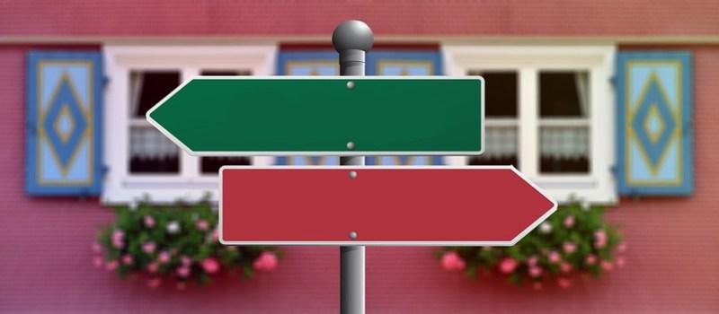Entscheidung und vier Eigenschaften