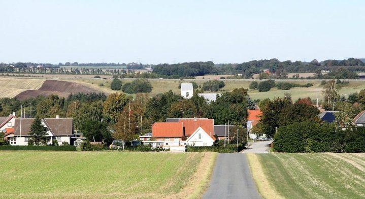 En landsby i et af landdistrikterne