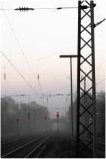 Gleise im Morgendunst