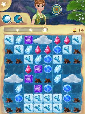 アナと雪の女王 Free Fall 無限 ステージ151 攻略のコツ