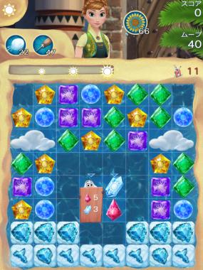 アナと雪の女王 Free Fall 無限 ステージ168 攻略のコツ