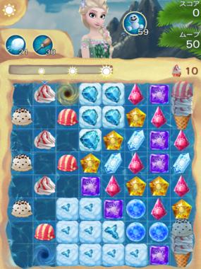 アナと雪の女王 Free Fall 無限 ステージ38 攻略のコツ