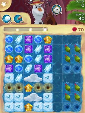 アナと雪の女王 Free Fall 無限 ステージ57 攻略のコツ