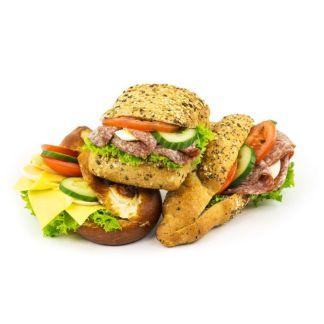 Canapés, belegte Brötchen und Sandwiches