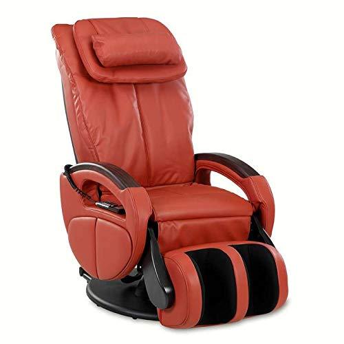 maxVitalis Shiatsu Massagesessel mit Wärmefunktion, Fernsehsessel rollbar, drehbar, Relaxsessel elektrisch verstellbar, Inkl. Aufbau-Service, 6 Massagearten & 6 Programme (Rot)