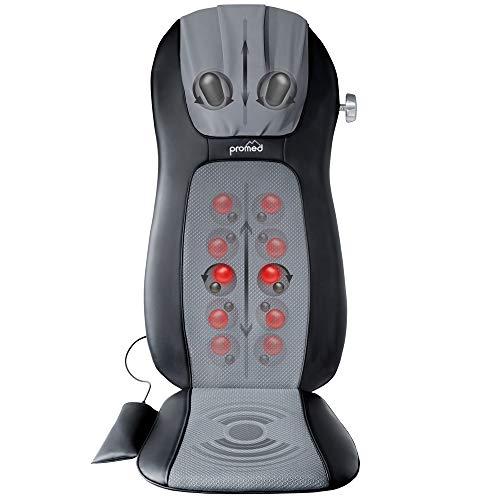 Promed MSA-900 Massagesitzauflage mit Wärmefunktion, Massagematte, Rückenmassagegerät für wohltuende Shiatsu Massage, Massagegerät für Nacken, Rücken, Massageauflage, Massage Matte