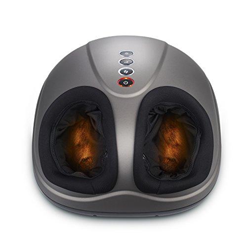 MARNUR Fußmassagegerät mit Wärmefunktion Shiatsu Fussmassage Elektrisch Kneten Klopf Füße mit Rollen & Luftkompression für Zuhause Büro
