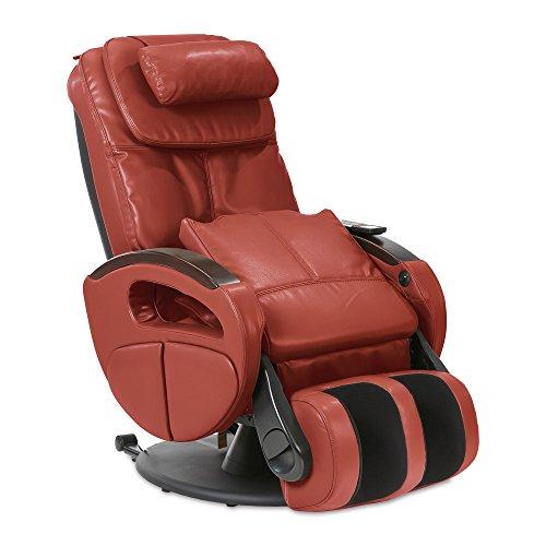 Massagesessel »Komfort Deluxe« mit elek. Aufstehfunktion, Shiatsu-Massage, Wärmefunktion, 4 Massagetechniken, 6 Massagezonen, Transportrollen, inkl. Kopf- & Nackenkissen (Rot)