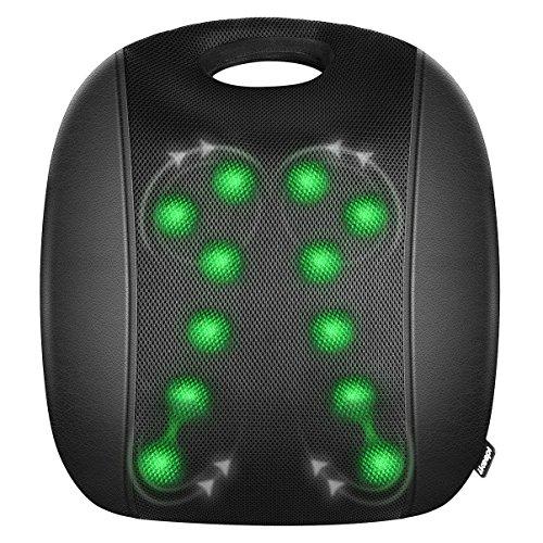 Rückenmassagegerät Shiatsu Rücken Massagegerät mit Wärmefunktion IKEEPI mit 12 Massageköpfe für Unteren Rücken Schulter Taille für Haus Büro Auto