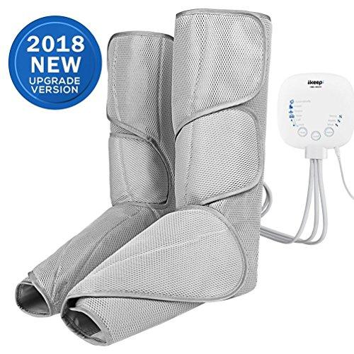 Ikeepi Beine Massagegerät mit drei einstellbare Luftkompression für Fuß, 6 Massagemodi, 3 Intensitätsstufen