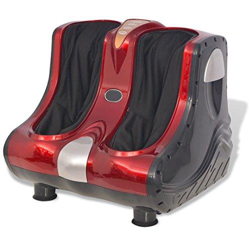 Festnight Fußmassagegerät Wadenmassage mit Wärmefunktion für Zuhause und Büro Entspannung Rot