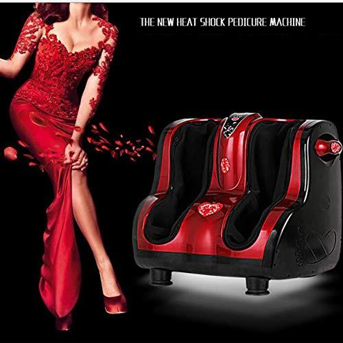 GWJ- Shiatsu Kneten, Rolling & Heating Fuß & Wadenmassagegerät Personal Health Studio Leg Beautician,Red