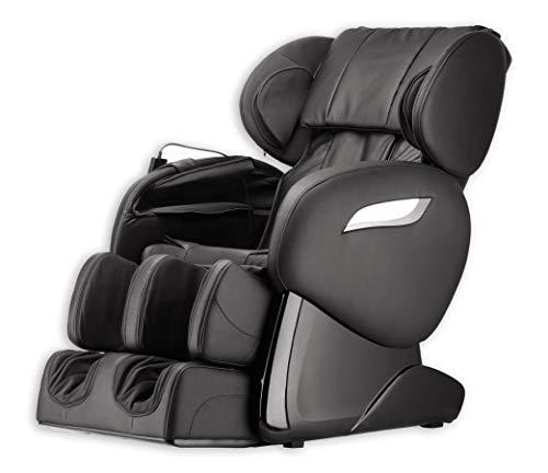 Luxus Massagesessel Shiatsu F2000 Leder schwarz mit Rollentechnik Massage + Heizung + Armmassage Sessel für Wohnzimmer günstig schwarzer bequemer Fernsehsessel Ledersessel