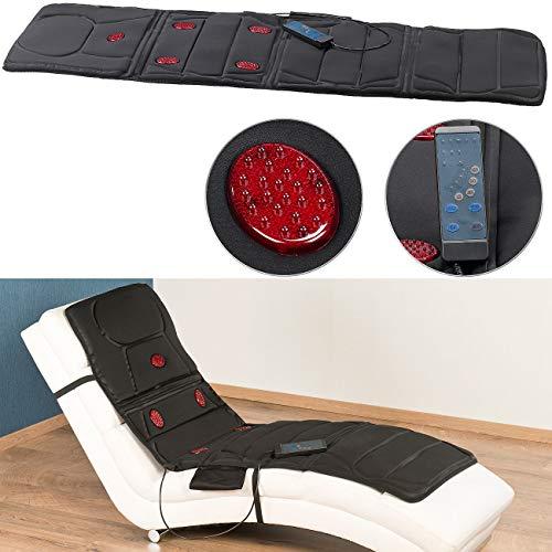 newgen medicals Ganzkörpermassagegeräte: Ganzkörper-Vibrations-Massageauflage mit IR-Tiefenwärme, 5 Programme (Massagematte ganzer Körper)