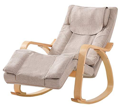 Massage Sessel für Zuhause und Büro - Stressless Sessel mit Hocker - Shiatsu Massagegerät - Massagesessel mit Wärmefunktion - Relax Sessel - Massagegerät Rücken