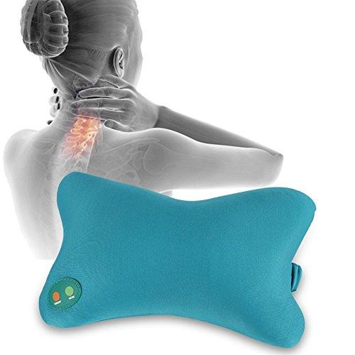 Massagekissen, elektrische weiche Kissenvibration, Nacken- und Rückenmassagegerät Shiatsu-Massagekissen mit hitzetiefem Gewebeknetmassagegerät für den Gebrauch zu Hause, im Büro und im Auto