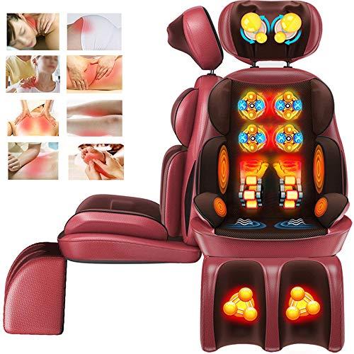 CHUDAN Shiatsu Massagesessel Rücken Massagegerät Massagesitzauflage mit Wärmefunktion und nackenmassage für Hals Rücken Oberschenkel und Hüften gegen Müdigkeit und Schmerzen