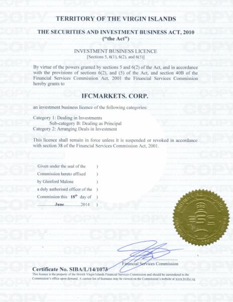 IFCMarketsの金融ライセンス、企業体制の検証結果