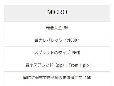 2位.HotForex/マイクロ口座