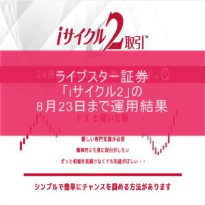 ライブスター証券「iサイクル2」の8月23日まで運用結果
