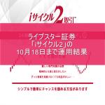 ライブスター証券「iサイクル2」の10月18日まで運用結果
