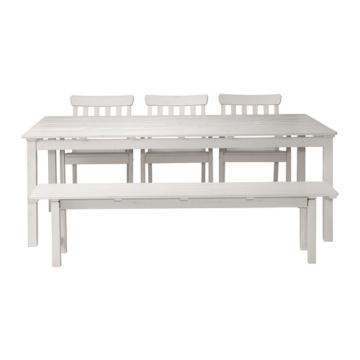 Ikea Gartentisch Holz.ᐅᐅ Ikea ängsö Holz Weiß 3 1 1 Weiße Aufleger Große